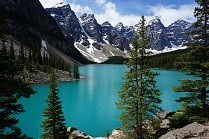 Hintergrundbild Moraine Lake für Laptop