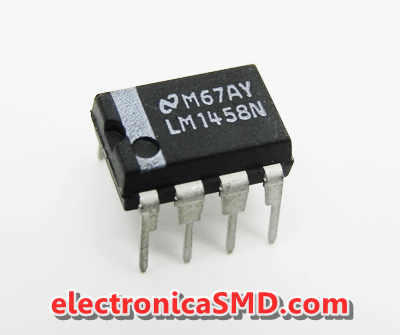 LM1458 Operacional Doble Cicuitos Integrados CI Electronica Electronico Guatemala ElectronicaSMD