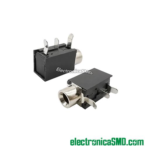 jack audio mono pcb placa, jack 3.5mm hembra, conector 3.5mm, guatemala, electronica, electronico, jack para soldar en placa audio