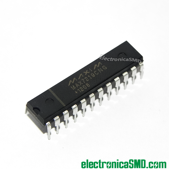MAX7219 Driver LEDS Serial con uC Cicuitos Integrados CI Electronica Electronico Guatemala ElectronicaSMD