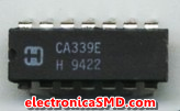 LM339 CA339 Comparador Cuádruple Cicuitos Integrados CI Electronica Electronico Guatemala ElectronicaSMD