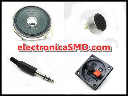 Antena Bocina Jack Microfono Plug Terminales Audio Electrónica Electrónico electronicaSMD Guatemala