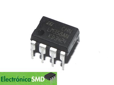 LM358 Operacional Doble Cicuitos Integrados CI Electronica Electronico Guatemala ElectronicaSMD