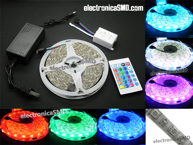 strip led rgb guatemala, rollo led rgb tira guatemala, tira led rgb, guatemala, led, electronica, electronico, rollo rgb led