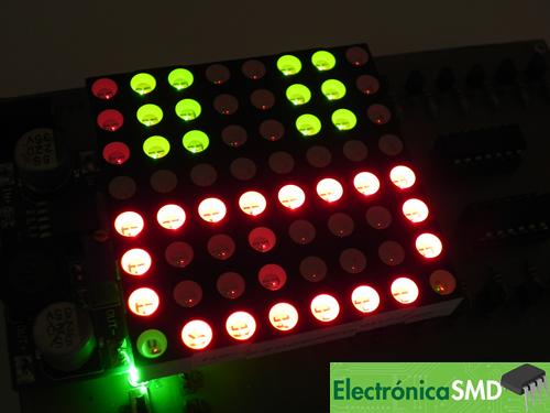 matriz led guatemala, matriz, led, guatemala, electronica, electronico, matriz 8x8 bicolor, matriz bicolor