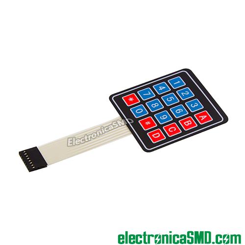 teclado 4x4 keypad guatemala, teclado matricial guatemala, guatemala, electronica, electronico, teclado, teclado pic microcontrolador, 16 teclas keypad, 4x4 guatemala,