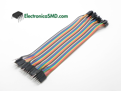 Cables Individuales Dupond macho-macho hembra-macho hembra-hembra Electronica Electronico Guatemala ElectronicaSMD