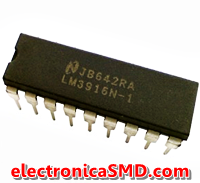 LM3916N Driver LED Cicuitos Integrados CI Electronica Electronico Guatemala ElectronicaSMD