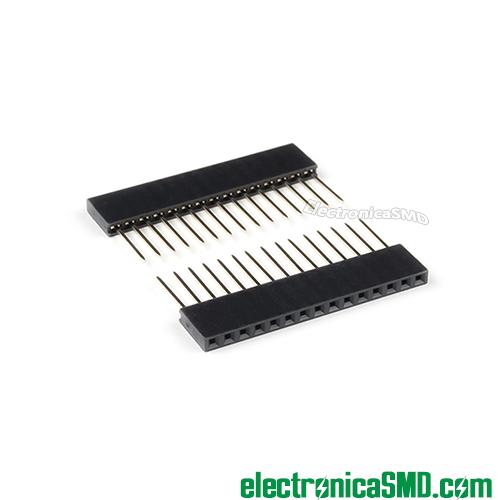 tira pines 1x15 15x1, header macho, header hembra, guatemala, electronica, electronico, conectores para placa, conector para conexiones