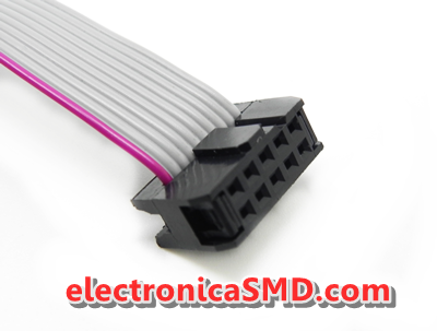 Cable  Conector IDC 6Pines 10Pines Electronica Electronico Guatemala ElectronicaSMD