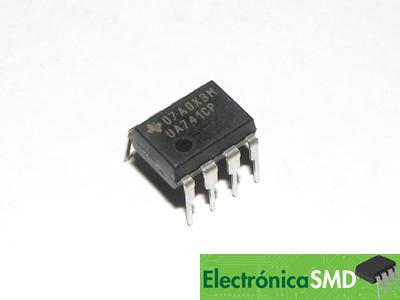 LM741 uA741 OPAMP Cicuitos Integrados CI Electronica Electronico Guatemala ElectronicaSMD