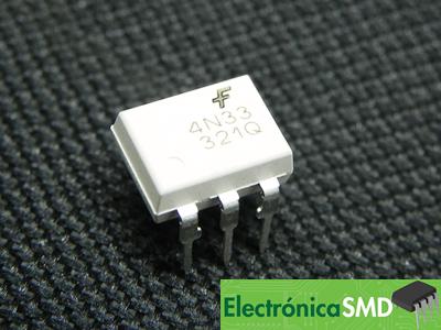 4N33, Optoacoplador, Darlington, optotransistor, Electronica, Electronico, Guatemala, optoacoupler