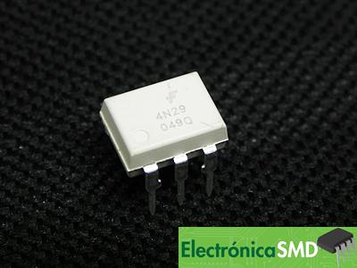 4N29, Optoacoplador, optotransistor, optoaislador, Electronica, Electronico, Guatemala
