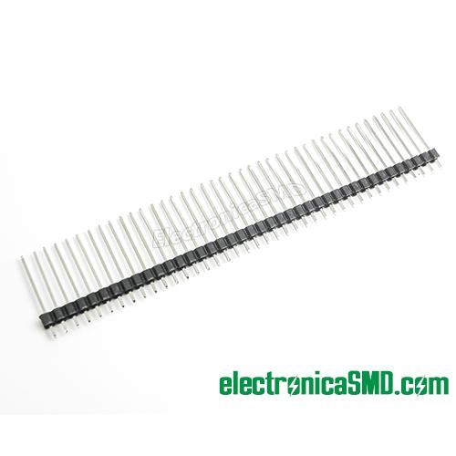 tira pines 1x40 40x1, header macho, header male, guatemala, electronica, electronico, conectores para placa