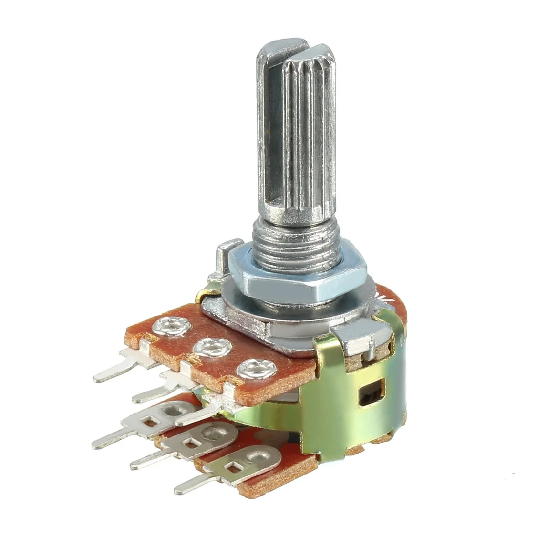 Potenciometro Lineal Doble Placa Metalico Perilla 1/2W 6pines Electronica Electronico Guatemala ElectronicaSMD