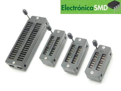 socket zif guatemala, base zif, zocalo integrado, zocalo zif, porta integrado, guatemala, electronica, electronico, zif, socket integrado, base zif
