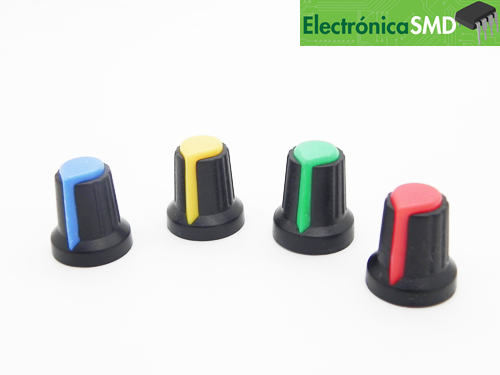 perilla boton potenciometro, boton para potenciometro, electronica, electronico, guatemala