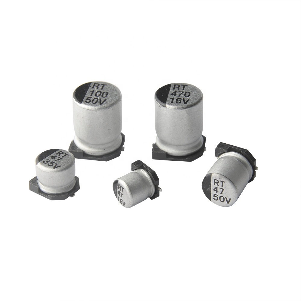 Capacitores Electroliticos Aluminio SMD, Electronica, Electronico, Guatemala, capacitor, condensador, capacitor smd, superficie