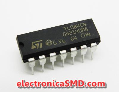 TL084 OPAMP JFET Cicuitos Integrados CI Electronica Electronico Guatemala ElectronicaSMD
