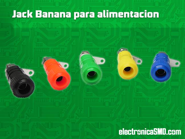 Jack Tipo Banana para Fuente Electronica Electronico Guatemala ElectronicaSMD, jack, alimentacion dc, electronica, electronico