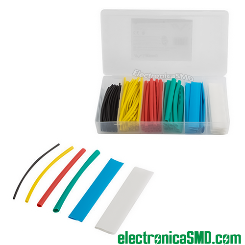 termoencogible guatemala, caja 100pcs tira termocontractil, termoencogible, termoretractil, termocontractil, guatemala, electronica, electronico