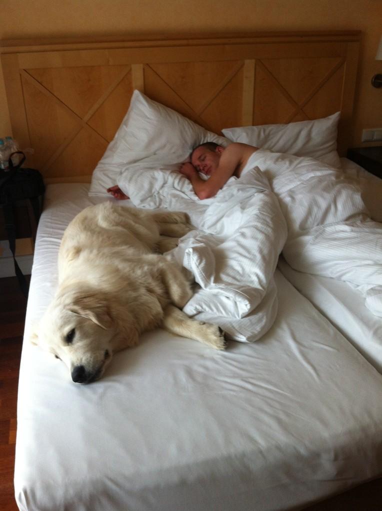 auch im Hotel Bett =)