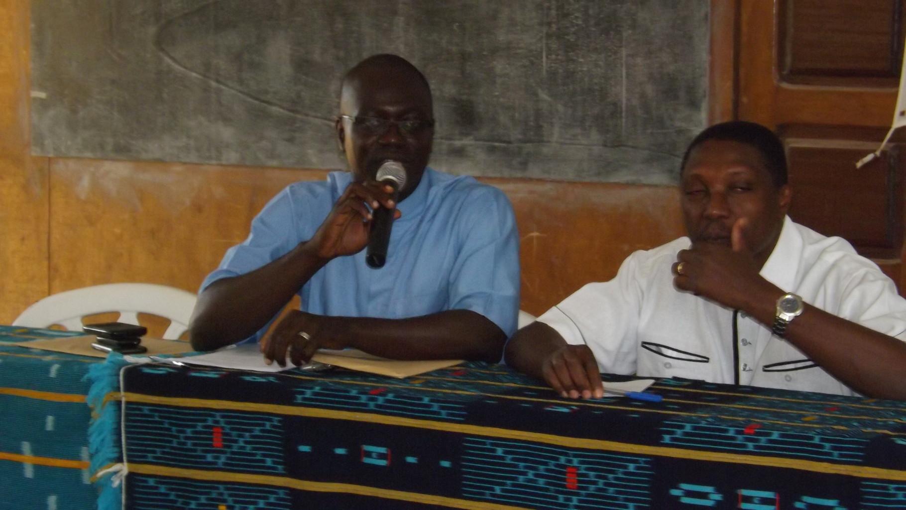 Discours du Directeur de la Ferme Pédagogique Tshanfeto