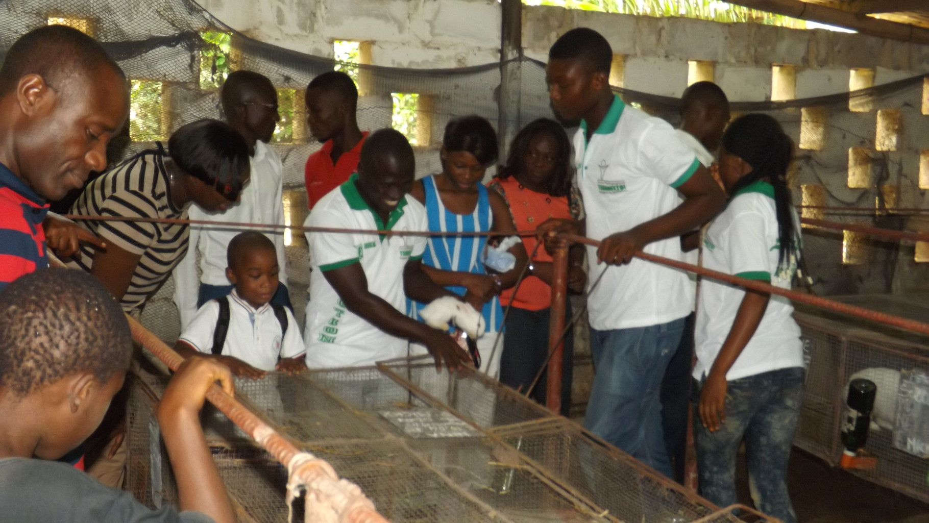 Visite de stands à tshanfefo