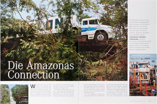 Mercedes-Benz-Magazin  (Text + Fotos)  - Per LKW von Manus nach Caracas