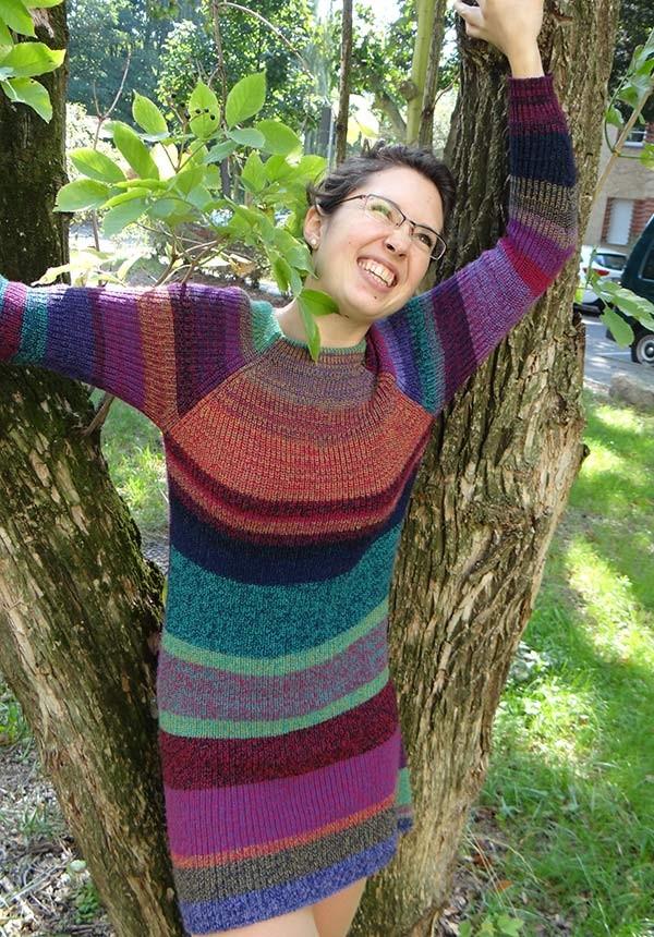 buntes Pulloverkleid Madlen