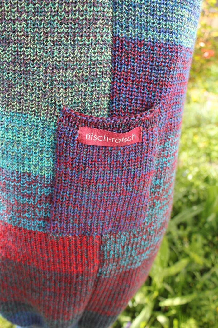 buntes Pulloverkleid Madlen aus Merinowolle