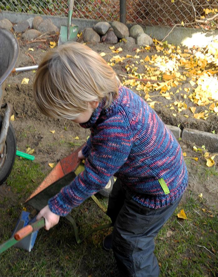 wasserabweisend und wunderbar warm, Strickjacke aus reiner ökologischer Wolle