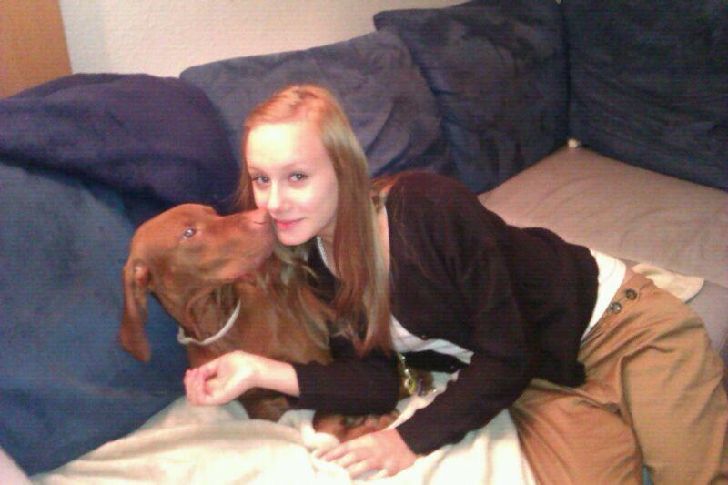 Svenja und ich verstehen uns gut ,manchmal darf ich bei ihr schlafen:))