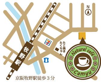カミュゥ簡易地図