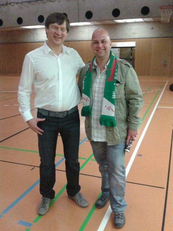 Mit dem Trainer, Aleksandar Knezevic