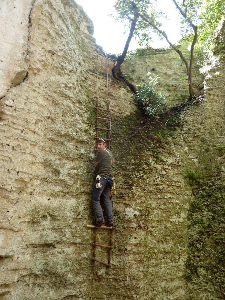 Daniel Fritschi in Finale Grotta dell`Edera