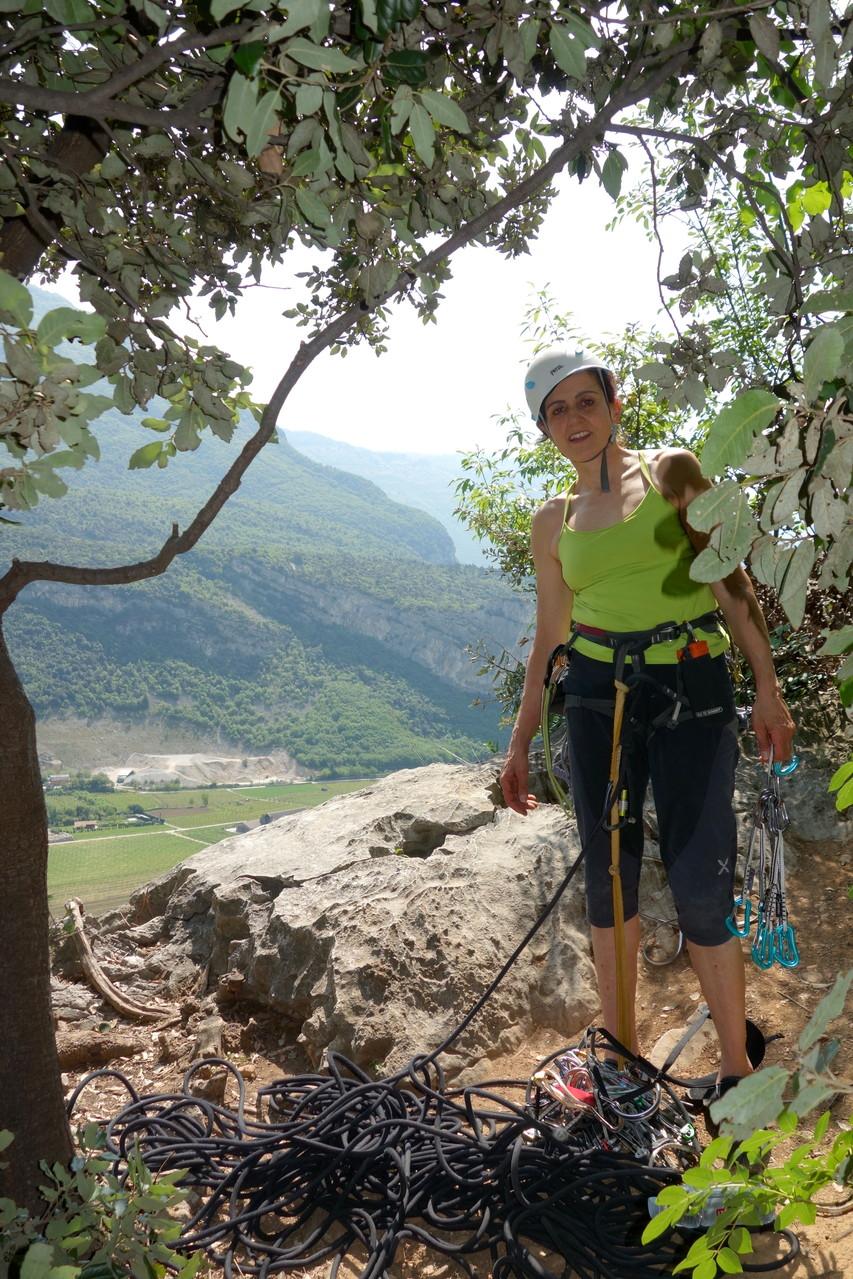 Denise beim Ausstieg