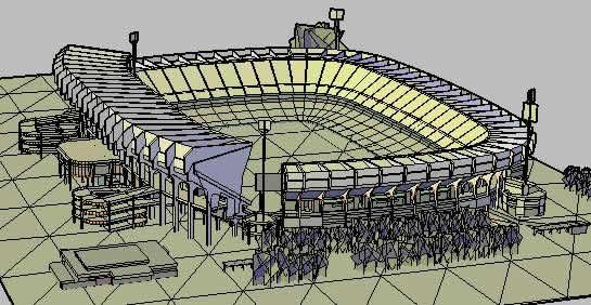 Diseño profesional de un estadio