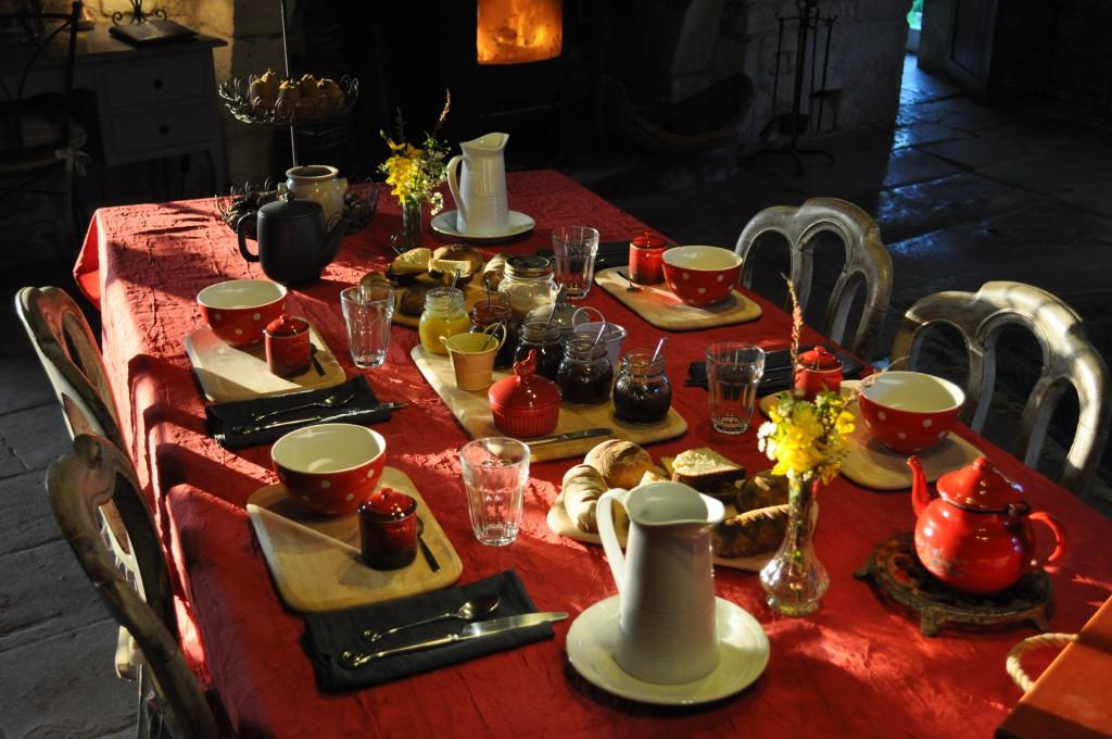 douce chaleur au réveil petit déjeuner bio maison d'hôtes sainte megrine