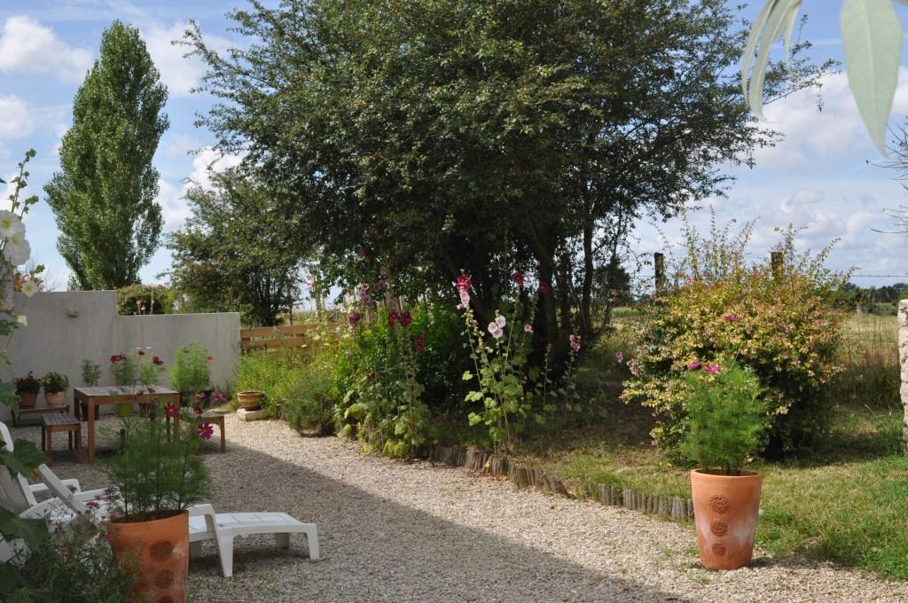 Gîte côté grenouilles Sainte Megrine le jardin