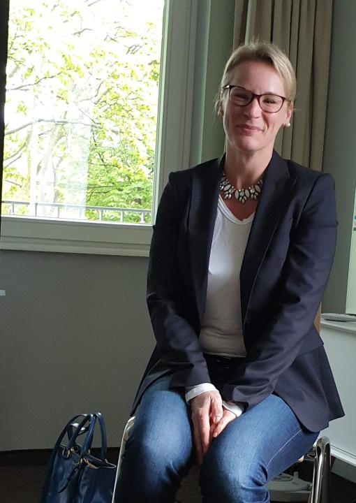 """Frau Dr. Leopold von Vivantes leitete den Workshop """"Früherkennung Bipolarer Störungen""""."""