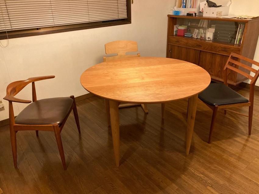 丸テーブル/椅子/家具