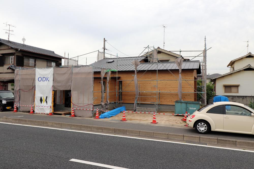 塗装色決め/国道沿いの平屋/倉敷
