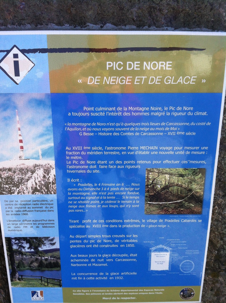 Point culminant de la montagne Noire
