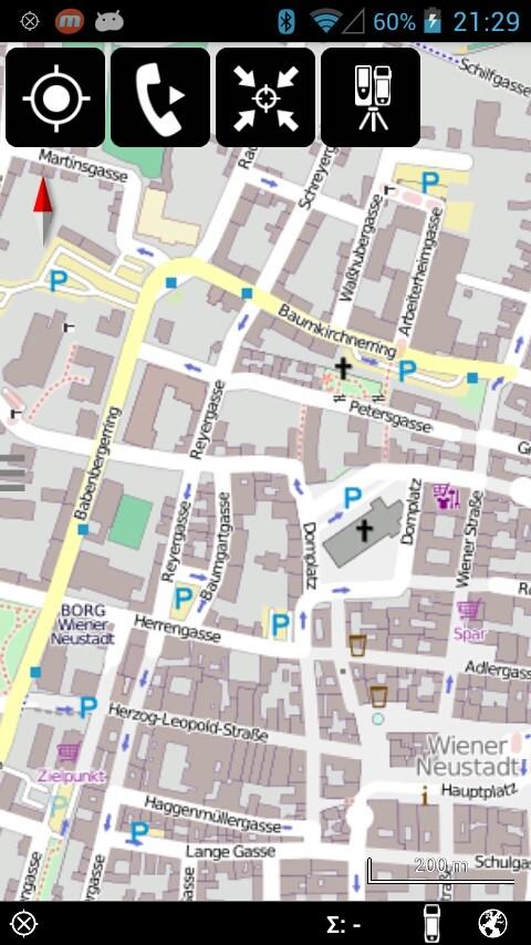 Open Street Map als Hintergrundkarte