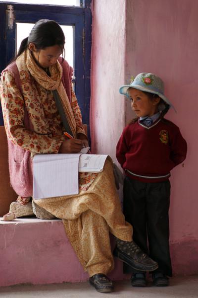 Enseignante à l'école Sakti Tager