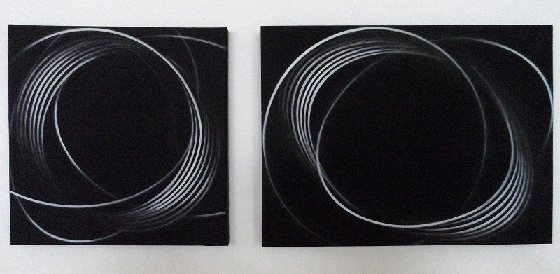 impuls.1moment II   2009   30 x30 cm&  30 x 40 cm    acryl auf mdf