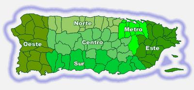 Regiones y Municipios de Puerto Rico