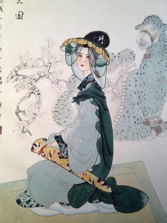 屈吟庵作 中国 美人画