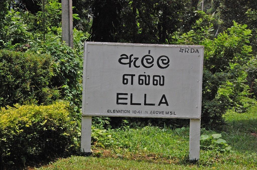 Ankunft mit dem Zug in Ella